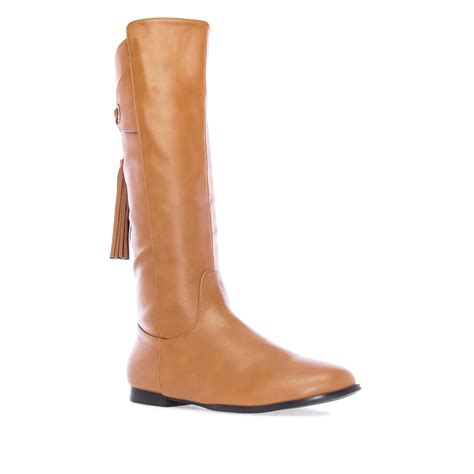 camel faux leather tassle flat boots alonai 9 90