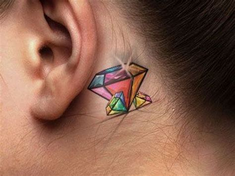 unexpected tattoo placement 25 best ideas about small diamond tattoo on pinterest