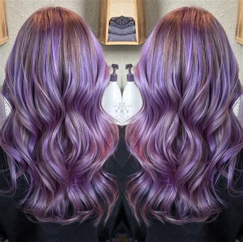 long hairstyles purple highlights 20 gorgeous pastel purple hairstyles for short long and