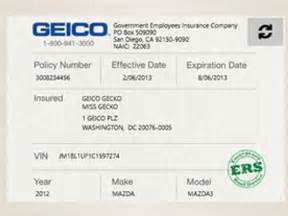 Fake Car Insurance Card Template Fake Geico Insurance Card Template 187 Ibrizz Com