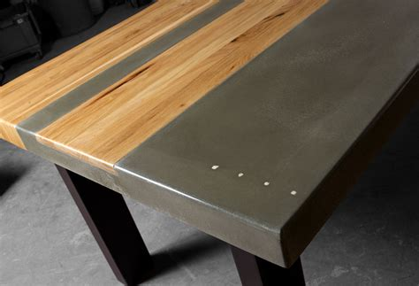 custom concrete table concrete wood steel dining kitchen table