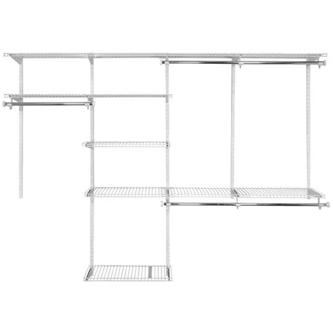 Rubbermaid Deluxe Closet Kit by Rubbermaid Configurations Custom Closet 4 8 Ft White