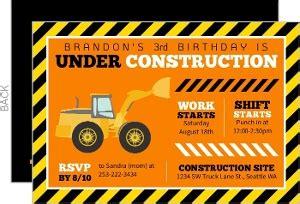 Cheap Kids Birthday Invitations Invite Shop Construction Themed Birthday Invitation Templates