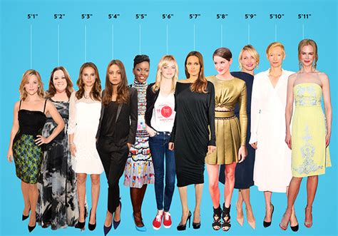 hollywood celebrities real height hollywood actresses arranged from shortest to tallest
