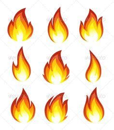 5 sets with 40 vector flame templates and spurts of flame
