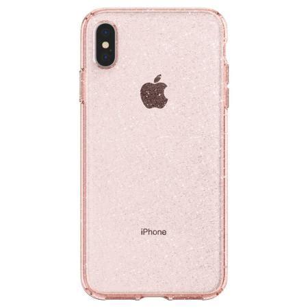 spigen liquid crystal glitter iphone xs max shell case rose quartz