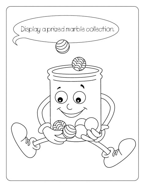 marble coloring pages jellyjar marbles