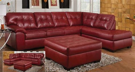 dark red couch thomasville leather chaise lounge watertown new york