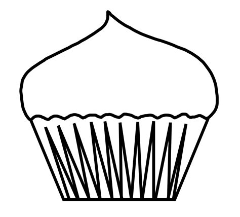 cupcake outline coloring page cupcake clipart outline cliparts co