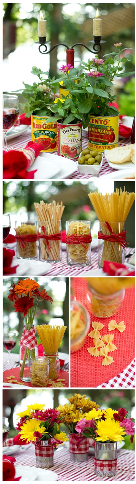 italian table centerpieces budget centerpiece ideas for an italian dinner theme