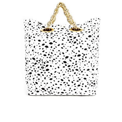 Lulu Guinness Reversible Tote White by Lulu Guinness Hug And Hold Spot Leather Tote Bag