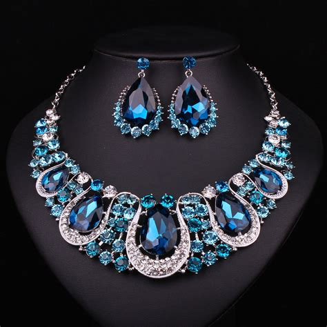 fashion indian jewellery sapphire necklace