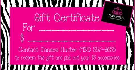 Pin By Kate Wustman On Paparazzi Jewelry Gift Certificates Paparazzi Jewelry Gifts Paparazzi Gift Certificate Template