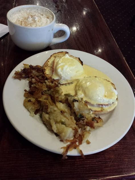 mocha house boardman eggs benedict with hash browns a pumpkin latte yelp