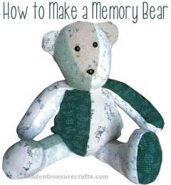 How to make a memory bear hidden treasure crafts and quilting