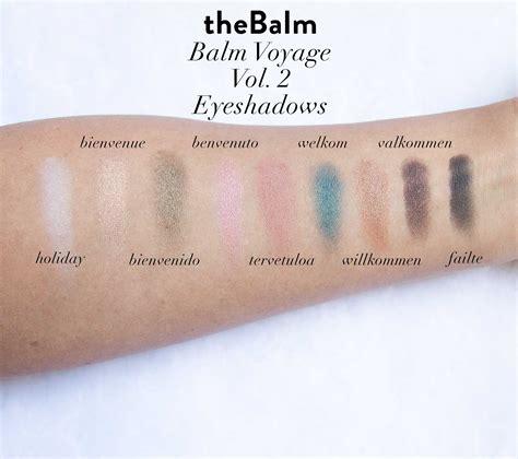 The Balm Voyage Vol 2 Travel Pallete thebalm balm voyage 2 review swatches