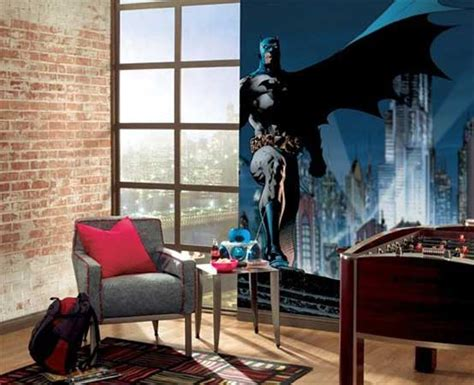batman bedroom wallpaper cool kids bedroom design with batman wallpaper