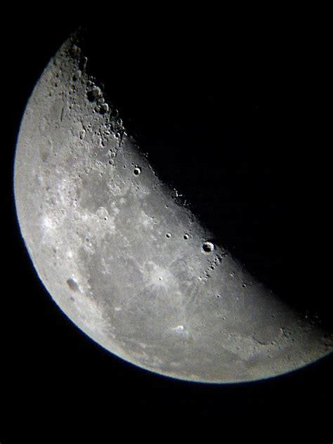 quarter moon astronomy pictures  orion telescopes