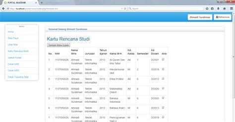 tutorial codeigniter sistem informasi akademik part 4 aplikasi sistem informasi akademik berbasis web gudang