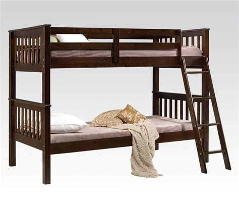 solid wood bunk beds twin over twin twin over twin espresso finish solid brazilian pine wood