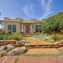 drought tolerant yard after landscaping without grass