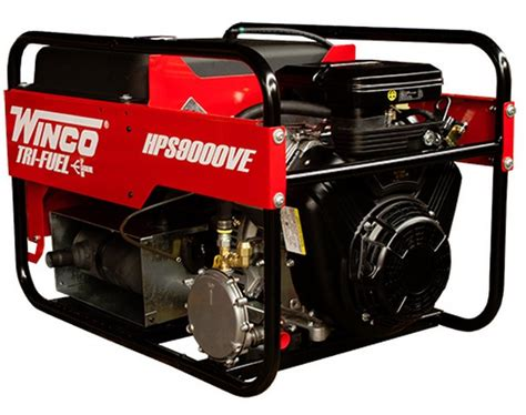 winco 9kw portable tri fuel generator hps9000ve