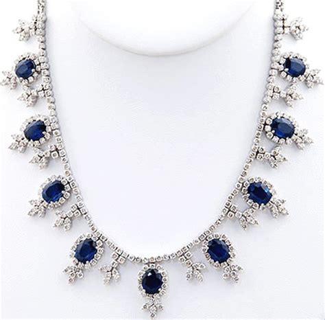 Blue Sapphire 6 55ct gemstone 7 55ct necklace blue sapphire gold wedding