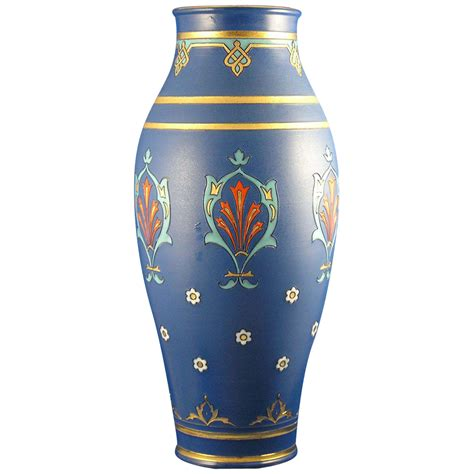 large villeroy boch mettlach germany arts crafts vase