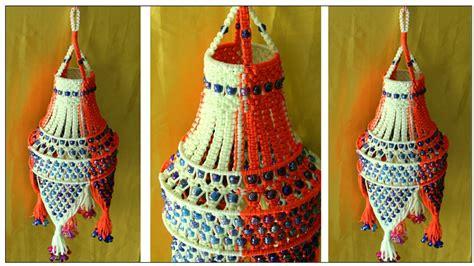 of easy handmade macrame jhumar wall hanging