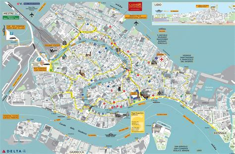 venice map maps and venice on