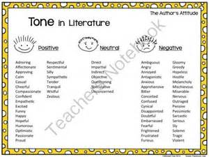 types of tones in essays 17 best images about mood and tone on anchor charts teaching and platten