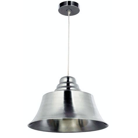 Brushed Steel Pendant Light Kenroy Home Spinnaker 1 Light Brushed Steel Pendant 92095bs The Home Depot
