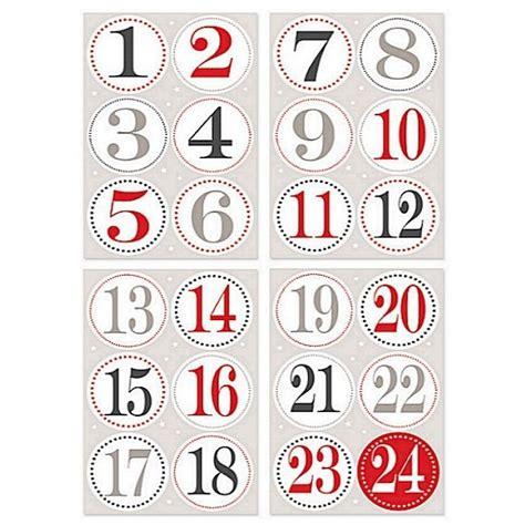 Aufkleber Zahlen 1 50 by Adventskalender Aufkleber Zahlen 40mm Kaufen