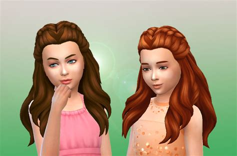 sims 4 child hair cc sims 4 hairs mystufforigin creative braids for girls