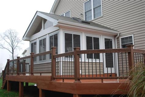 three seasons porch three season porch design ideas timbertech composite deck with porch sunrooms photo gallery