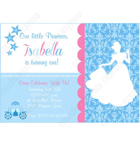 cinderella inspired printable invitation 2 diy