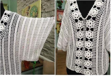 ver a travs de la blusa ganchillo blusa patrones tallas grandes de blusa blanca de crochet con mangas murci 233 lago crochet