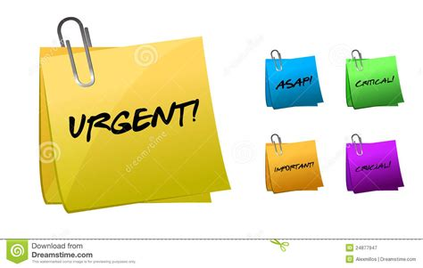 Dasi Note urgent messages on post it notes illustration