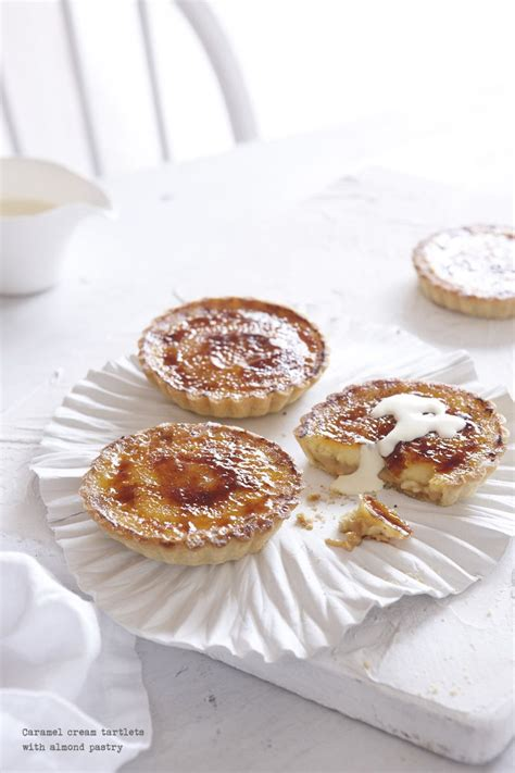 Caramel Almond caramel tartlets with almond pastry sweeter side