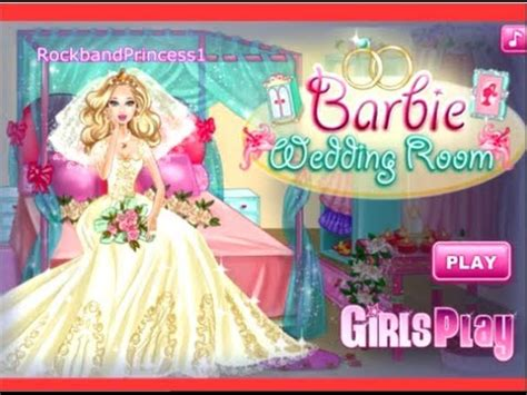 barbie bedroom game barbie games barbie wedding room decoration and dress up game youtube