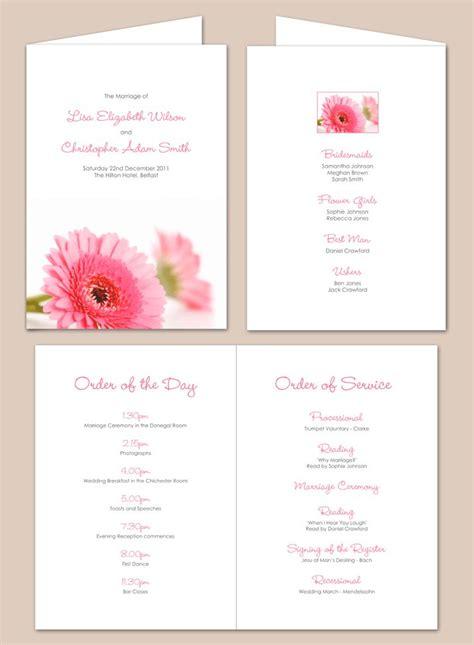 Wedding Service by Civil Ceremony Order Of Service Search Invites