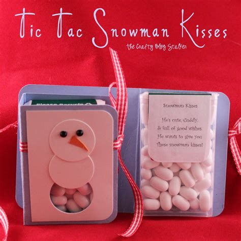 tic tac snowman kisses the crafty blog stalker