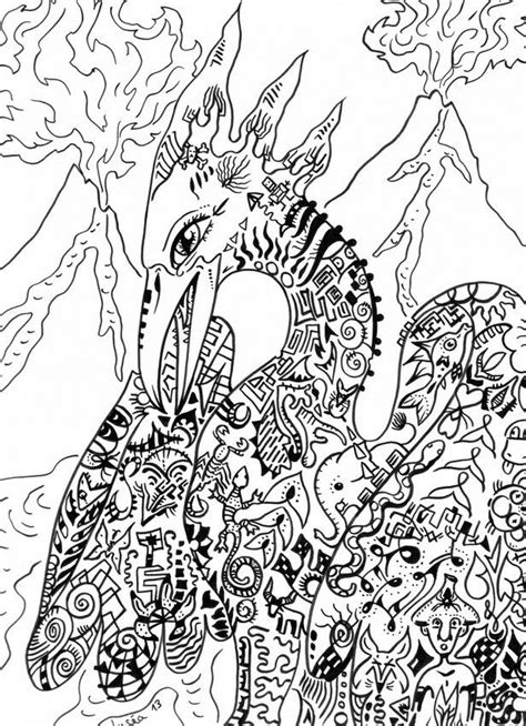 mythical creatures coloring pages patterns pinterest phoenix mythical creature colouring for adults