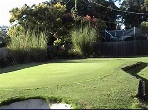 how to build a backyard putting green putting green backyard style youtube