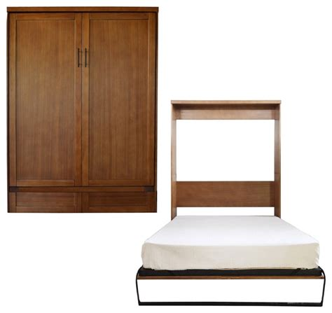 queen size murphy bed roomandloft andrew queen size murphy bed nutmeg murphy beds houzz
