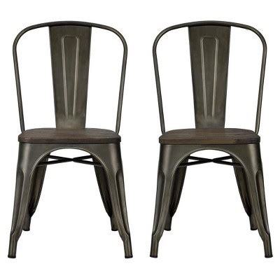 white metal chairs target fusion metal dining chair set of 2 white dorel home