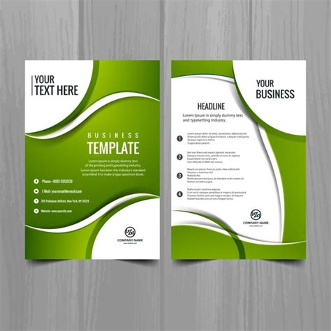green brochure layout vector green business brochure vector free download