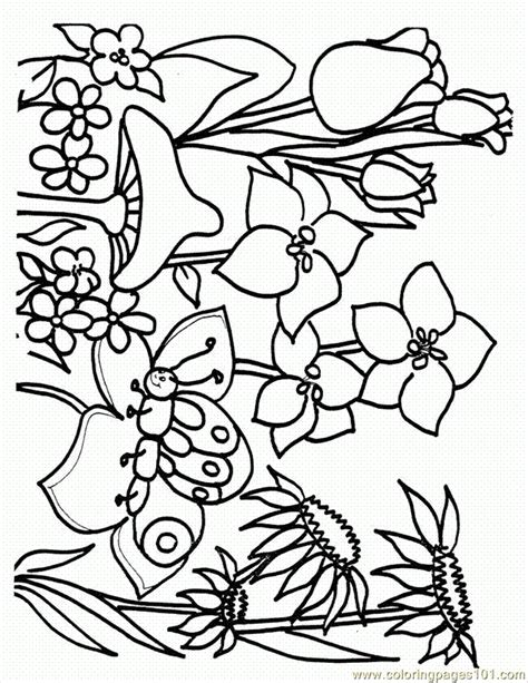 free coloring pages of spring scene