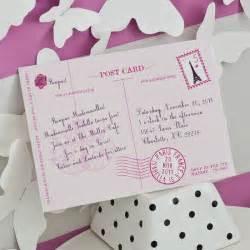 glamorous postcard parisian invitation