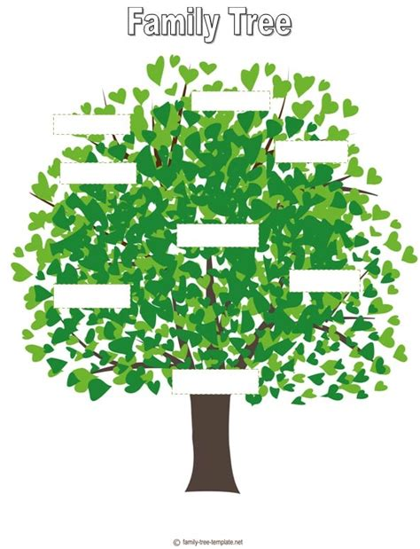 family tree for kids template anchor charts management
